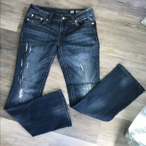 Miss Me Bootcut Jeans Size 31 x 34 Distressed